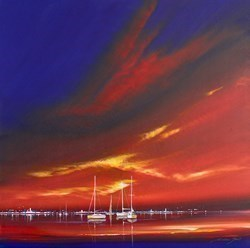 Oriental Sky VI by Jonathan Shaw -  sized 20x20 inches. Available from Whitewall Galleries